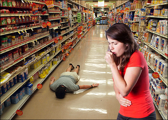 Coughing, consumptive customers