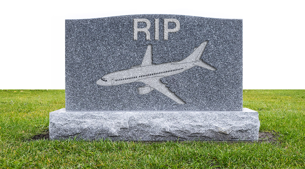 departed plane